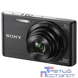 Sony CYBER-SHOT DSC-W830 [DSCW830B.RU3] Black {20.1Mpix,8x opt zoom,2.7