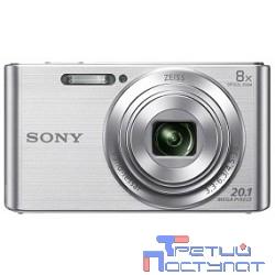 Sony CYBER-SHOT DSC-W830 [DSCW830S.RU3] Silver {20.1Mpix,8x opt zoom,2.7