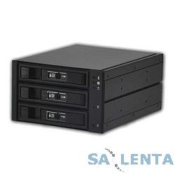 Procase L3-203-SATA3-BK {Hot-swap корзина 3 SATA3/SAS 6Gb, черный, с замком, hotswap aluminium mobie rack module (2×5,25) 1xFAN 80x15mm}