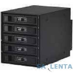 Procase L3-305-SATA3-BK {Hot-swap корзина 5 SATA3/SAS 6Gb, черный, с замком, hotswap aluminium mobie rack module (3×5,25)}