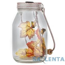 ЭРА SL-GL17-JAR Комбинированная расцветка {Садовый светильник на солнечной батарее, Этот светильник стилизован под банку, заполненную осенними листьями и светлячками}