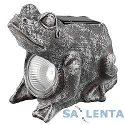ЭРА SA2 «Лягушка» Серый {Садовый светильник на солнечной батарее,  «Керамический» светильник из серии «фигур» — Лягушка}