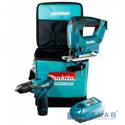Makita DK1475X3 Набор инструмента [DK1475X3] {DF330DZ+ лобзик ак JV100DZ,сумка,з\у, 2аккумулятора,пилка A-86583}