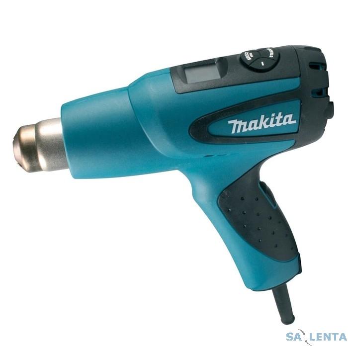 Makita HG651CK SET Пистолет горячего воздуха [HG651CK] {2000Вт,200-550лм,80-650грС,0.63кг,чем,4 насадки, прижимной ролик}