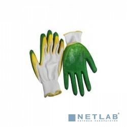 Перчатки ЗУБР ''МАСТЕР'' трикотажные, 10 класс, х/б, двойная обливная ладонь из латекса, L-XL [11459-XL]