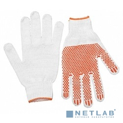 Перчатки STAYER ''MASTER'' трикотажные, 7 класс, х/б, с защитой от скольжения, L-XL [11404-XL]