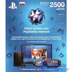 Sony Карта оплаты для PlayStation Store, 2500 руб. (конверт)