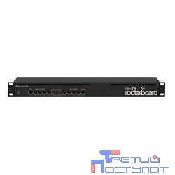 MikroTik RB2011iL-RM RouterBOARD 2011iL-RM Маршрутизатор 5UTP  10/100Mbps  +  5UTP  10/100/1000Mbps with 1U rackmount case and power supply