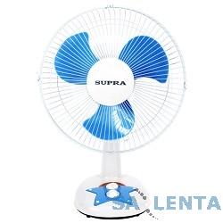 Вентилятор напольный SUPRA VS-1211 white/blue