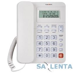 teXet TX-254 светло-серый (ЖК дисплей c подсветкой/часы/термометр/ память на35 номеров/повтор 9 номеров/ 5 мелодий сигнала)