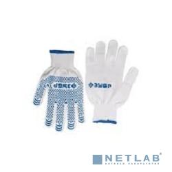 Перчатки ЗУБР ''ЭКСПЕРТ'' трикотажные, 12 класс, х/б, с защитой от скольжения, S-M [11451-S]