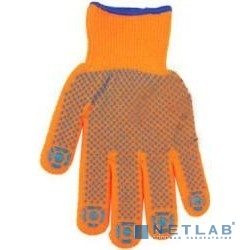Перчатки ЗУБР ''ЭКСПЕРТ'' утепленные, акриловые, с защитой от скольжения, 10 класс, сигнальный цвет, L-XL [11464-XL]