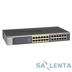 NETGEAR JGS524PE-100EUS 24-портовый гигабитный (из них 12 портов с PoE) коммутатор ProSafe Plus с внутренним блоком питания и функциями энергосбережения, управление с помощью утилиты под Windows, PoE