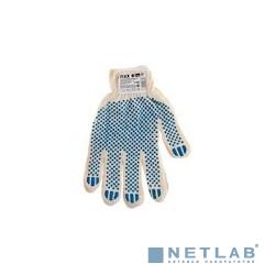 Перчатки DEXX трикотажные, 7 класс, х/б, с защитой от скольжения [11400_z01]