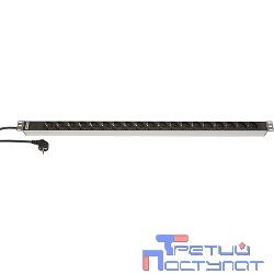 Hyperline SHT-19SH-2.5EU Блок розеток, 19 розеток, 16 A, шнур 2.5м
