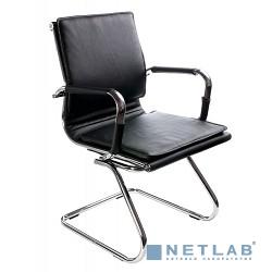 Бюрократ CH-993-Low-V/Black  (Кресло, низкая спинка ,черный, искусственная кожа, полозья хром)