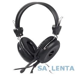 A4Tech HS-30, Black {Гарнитура, накладные, 20-20000Гц,32 Ом, 102дБ, микр фиксирован,  кабель 2м, 2 x mini jack 3.5 mm}