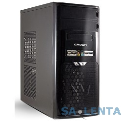 CROWN Корпус Miditower  CMC-SM603 USB3.0 black/silver ATX (CM-PS450w smart)