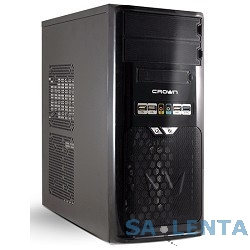 CROWN Корпус Miditower CMC-SM603 USB3.0 black/silver ATX (CM-PS500w smart)