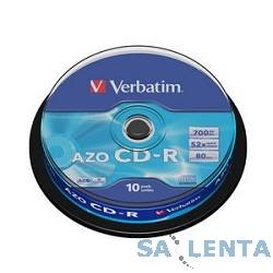 VERBATIM  Диски CD-R 80 52x DL+ CB/10 Crystal  (43429)