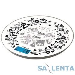 Весы кухонные электронные Scarlett SC-KSD57P03 макс.вес:5кг белый/рисунок