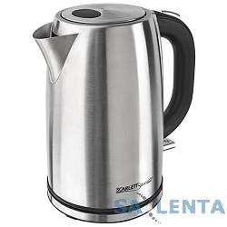 Чайник электрический Scarlett SL-1502, 2200Вт, серебристый