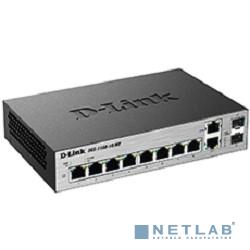 D-Link DGS-1100-10/ME/A1A Настраиваемый коммутатор 2 уровня с 8 портами 10/100/1000Base-T и 2 комбо-портами 100/1000Base-T/SFP