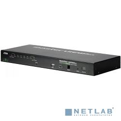 ATEN CS1708i-D(F)(E)(-AT-Gi) Переключатель, электрон., KVM, 1 local user PS2/USB+VGA+1 IP user => 8 cpu PS2/USB+VGA, со шнурами PS/2 1.8м/USB 1.8м., 1600x1200 удал.конс/2048x1536 локал.конс, 1U 19''