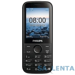 Philips Xenium E160 Black {2 sim, 2.4″, 240×320, 2МП, BT,  microSD}