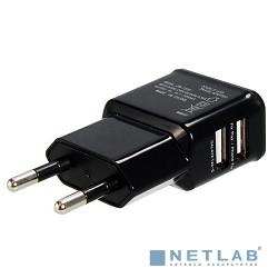 Orient  Зарядное устройство USB от эл.сети  PU-2402, DC 5V, 2100mA, 2 выхода (iPad,Galaxy), черный