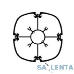 Legrand (30742) Миниколонна DLP — алюминий — 4 секции — выс. 0,70 m