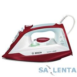 Утюг BOSCH TDA3024010,  2400Вт,  белый/красный