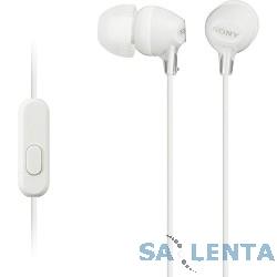 SONY MDR-EX15AP, белый {Наушники с гарнитурой}