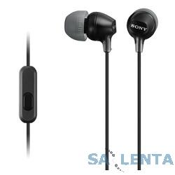 SONY MDR-EX15AP черный {Наушники с гарнитурой} [MDREX15APB.CE7]