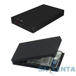 ORIENT 2560U3  Внешний контейнер , External Case 2.5″ SATA HDD, USB 3.0, алюминий, поверхность «soft-touch», черный, установка HDD без шурупов