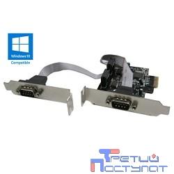ORIENT XWT-PE2SLP OEM PCI-Ex1, 2xCOM9M, Low Profile