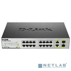 D-Link DES-1018P/A2A Неуправляемый коммутатор с 16 портами 10/100BASE-TX (8 портов с поддержкой PoE) и 2 комбо-портами 10/100/1000BASE-T/SFP и функцией энергосбережения