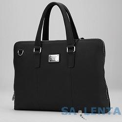 Сумка Continent CL-105 Black натуральная кожа, черная, до 15,6″