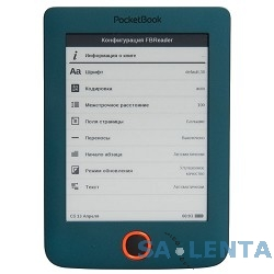 Электронная книга PocketBook 515 {5″ E-Ink Pearl 600×800 1.0Ghz 256Mb/4Gb черный/зеленый} [PB515-N-RU]
