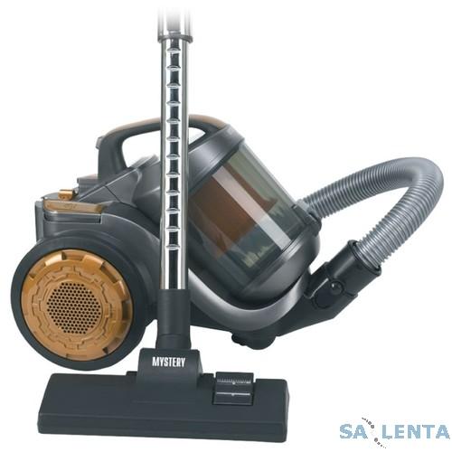 Пылесос Mystery MVC-1121, 1600Вт, сухая, без мешковый, регулировка мощности, серый, HEPA фильтр