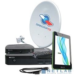 Комплект спутникового телевидения Триколор GS E501 + GS C591 + планшет ''Европа'' (комплект на 2 ТВ) черный