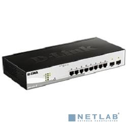 D-Link DGS-1210-10/F1A Настраиваемый коммутатор WebSmart с 8 портами 10/100/1000Base-T и 2 портами 1000Base-X SFP