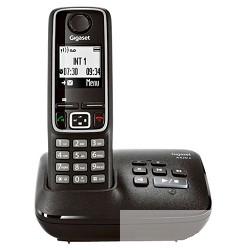 Gigaset A420A  телефон беспроводной ( трубка с ЖК диспл. , База, Заряд. устр-во) стандарт-DECT (черный) автоответчик