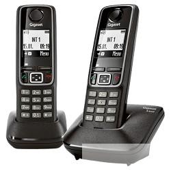 Gigaset A420 DUO BLACK Телефон беспроводной  ( 2  трубки с ЖК диспл. , База, Заряд. устр-во) стандарт-DECT