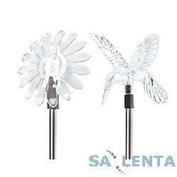 ЭРА SD1 Серебристый {Садовый светильник на солнечной батарее «Колибри + Цветок», Акку NiMH AA}
