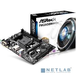 ASRock FM2A58M-HD+ RTL (R2.0) {FM2+, AMD A58, 2DDR3, SATAII, DVI, D-Sub, HDMI, PCI-E, mATX (uATX)}