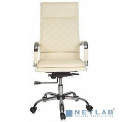 Бюрократ CH-991/lvory (Кресло руководителя,  искусственная кожа)