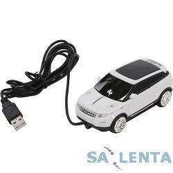 CBR MF 500 Rapido White USB, Мышь сувенирная, 1000dpi, игр.автомобиль, подсветка, провод 1.8 метра