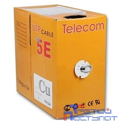 Telecom Кабель UTP кат. 5e 4 пары (305м) (0.40mm) CU [UTP4-TC1000C5EL-CU-IS] GREY