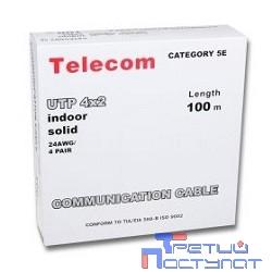 Telecom Кабель UTP кат. 5e 4 пары (100м) (0.5mm) CCA [UTP4-TC100C5EN-CCA-IS]
